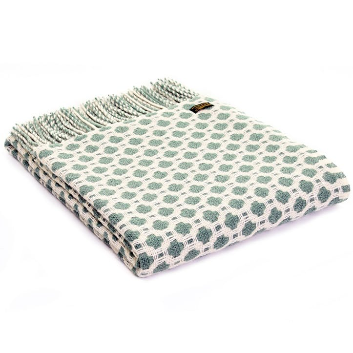 Crossroads Throw; Sea Green