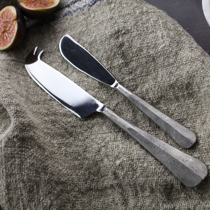 Osko Cheese & Butter Knife Set; Silver
