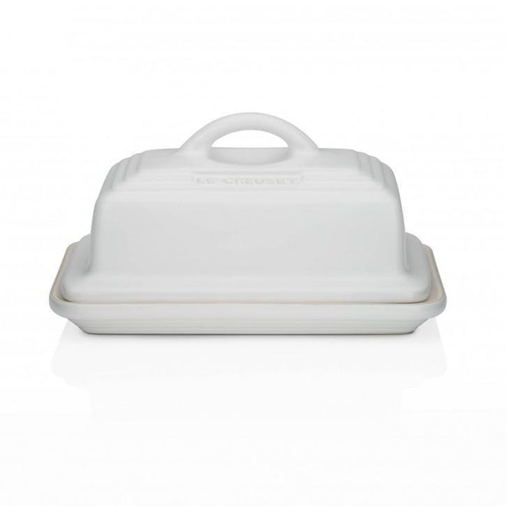 Stoneware Butter Dish; Cotton
