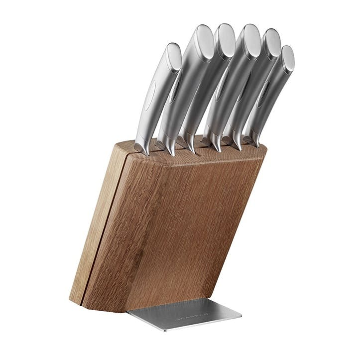 Classic, 6 Piece Knife Block Set, Steel