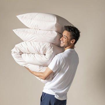 Classic Cotton Duvet Set, 135 x 200cm, Rose