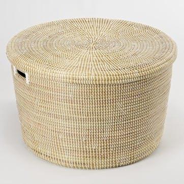 Round Storage Basket, Small, Natural