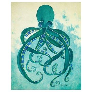 Cat Coquillette Octopus Canvas, 40 x 50cm