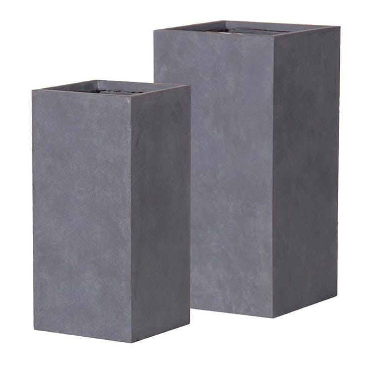 Set of 2 Frost Resistant Square Planters
