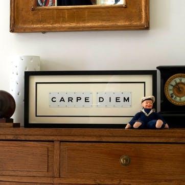 'Carpe Diem' Word Frame