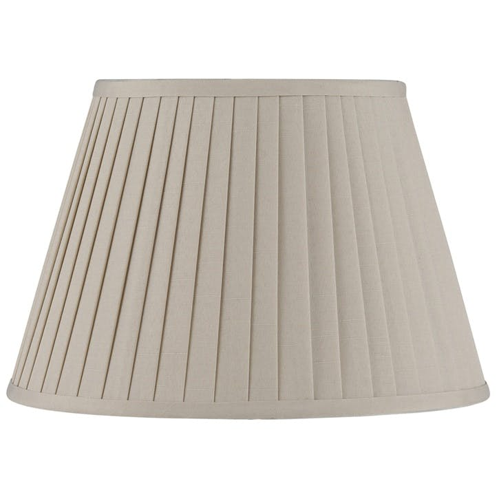 Poly Cotton Knife Pleat Shade - 30cm; Taupe