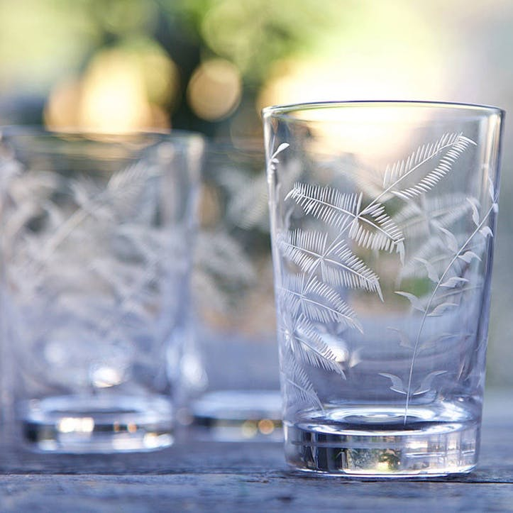 Ferns Crystal Tumblers, Set Of 6