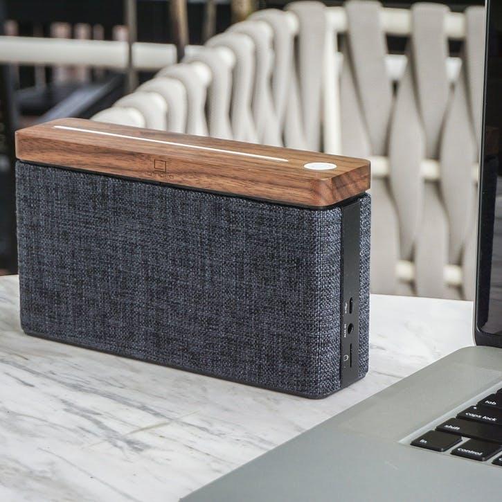 HiFi Square Speaker, Walnut