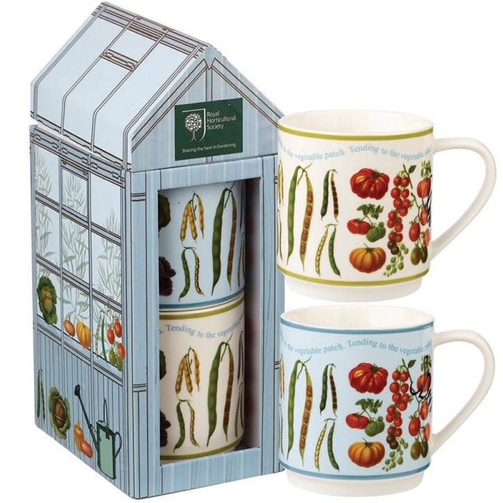 At The Allotment Stacking Mugs, Set of 2