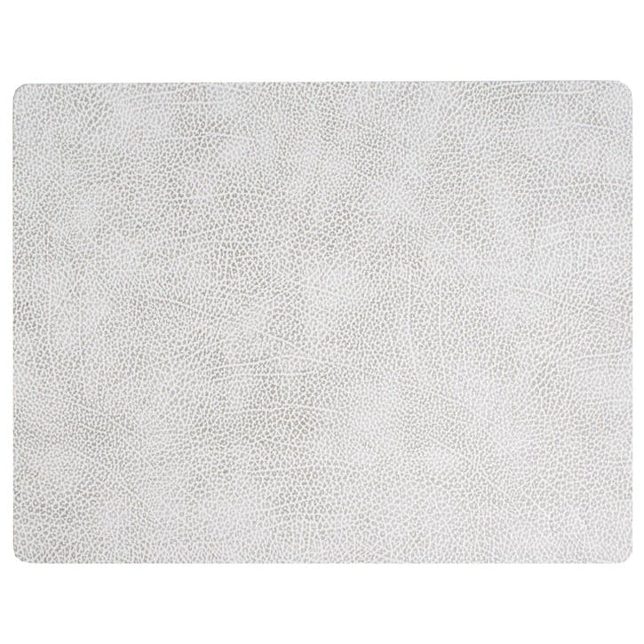 Rectangular Placemat, Set of 4, Hippo White/ Grey