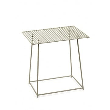 Metal, Rectangular Table, Grey