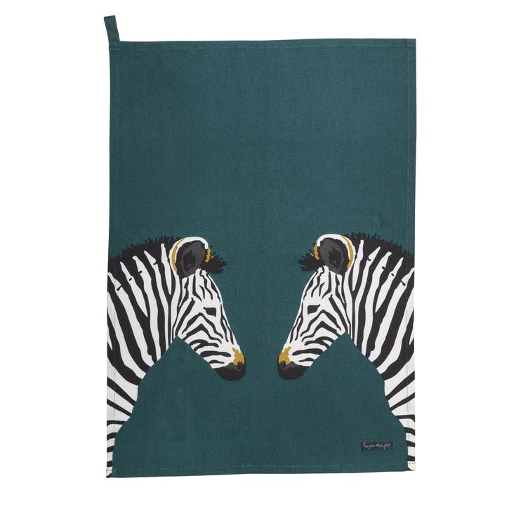 'Zebra' Scene Tea Towel