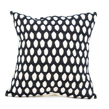 Elca Cushion - 40cm; Linen On Black
