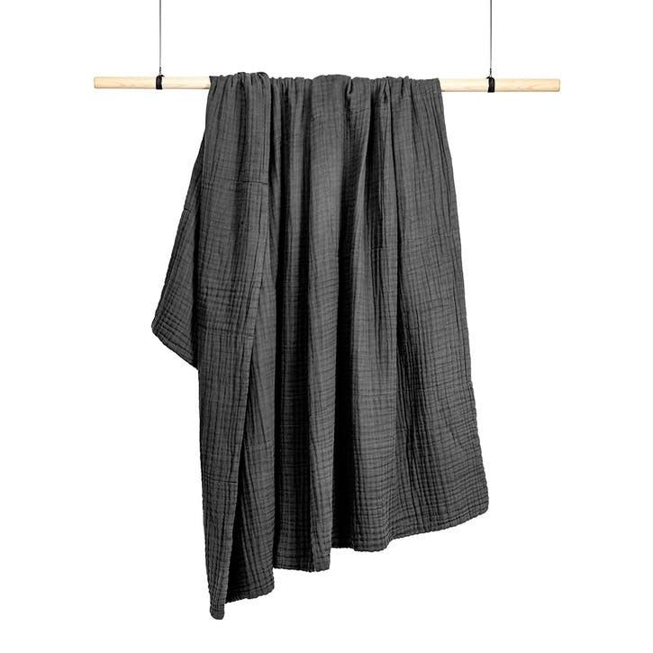 Six Layer Soft Blanket, Dark Grey