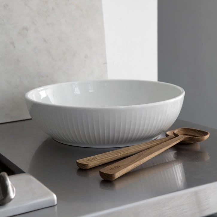 Hammershøi Salad Bowl, 30cm, White