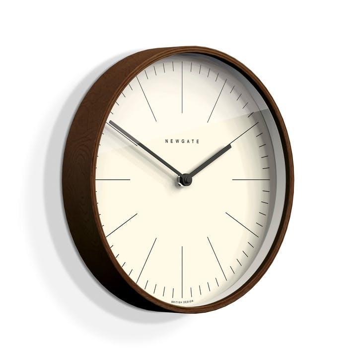 Mr Clarke Wall Clock, Dia. 53cm, Dark Wood