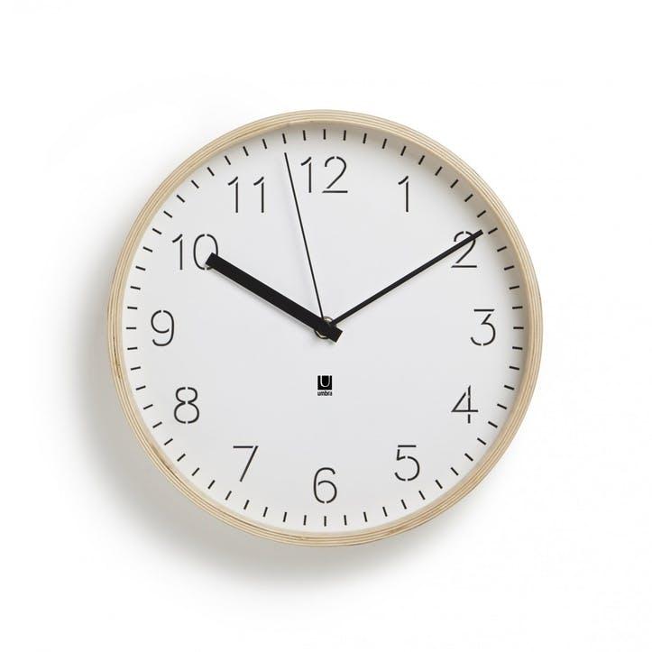 Rimwood Wall Clock, Natural