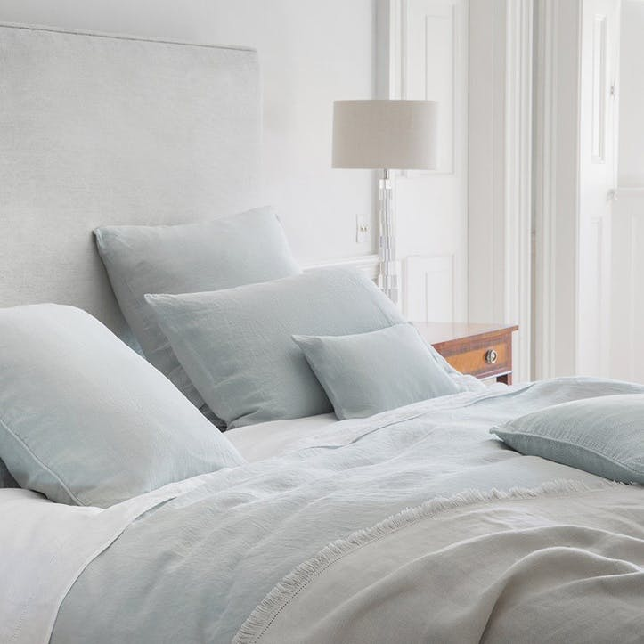 Moustier Housewife Pillowcase, Duck Egg