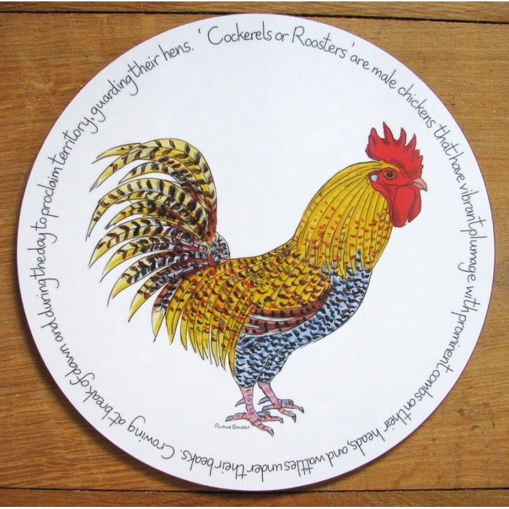 Cockerel Tablemat - 28cm