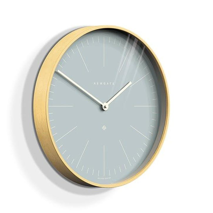 Mr Clarke Wall Clock, Pale Blue
