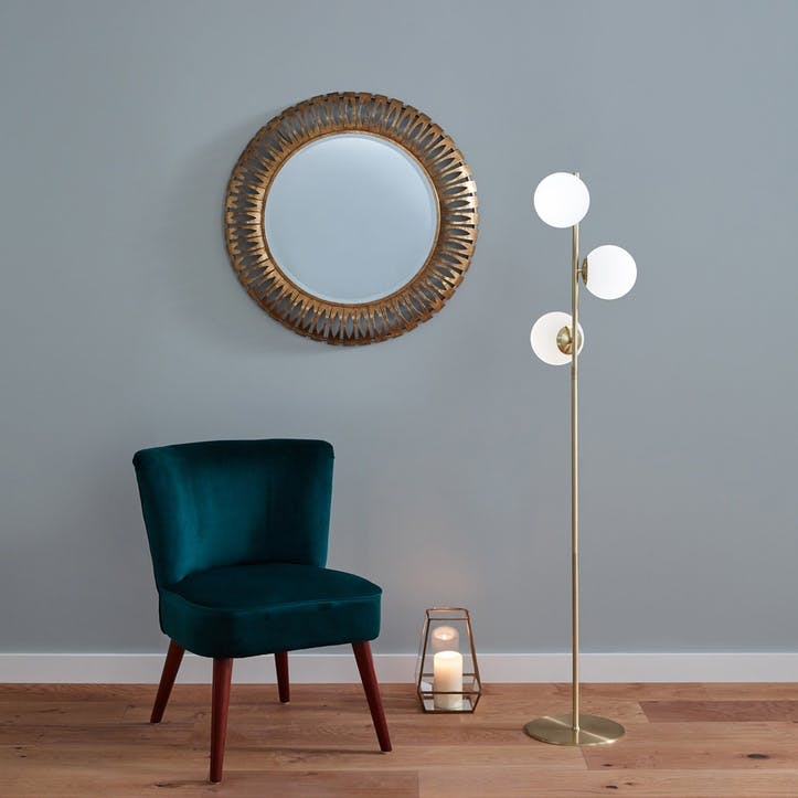 Monroe Floor Lamp, Gold