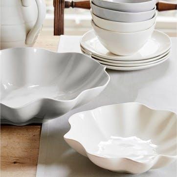 Floret Cream Medium Serving Bowl