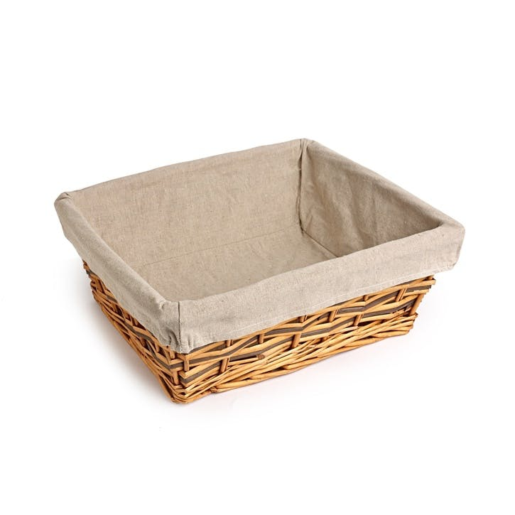 Two-Tone Lined Basket - Large