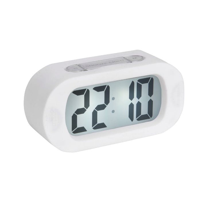Gummy Alarm Clock, White
