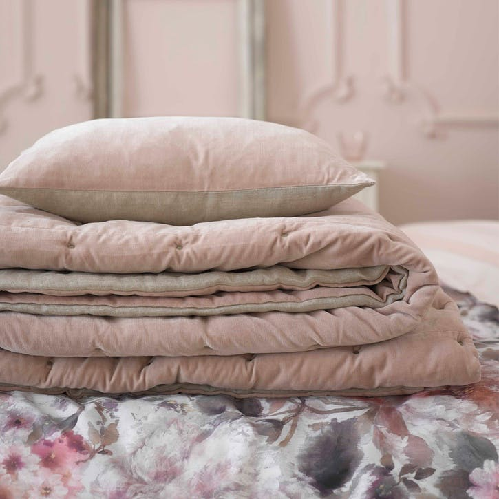 Jaipur Throw; Dusky Pink