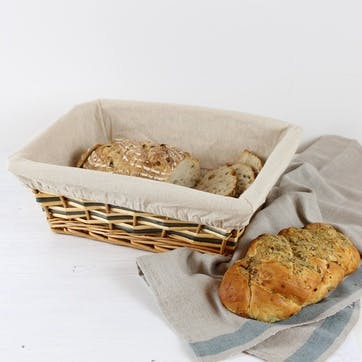 Two-Tone Lined Basket - Small