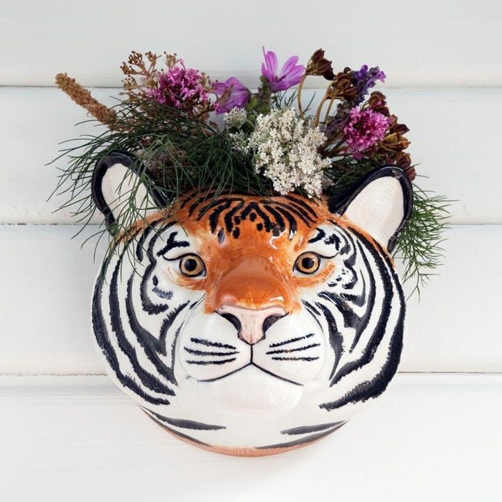 Tiger Wall Vase, H16cm