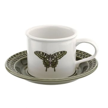 Breakfast Cup & Saucer, Forest Green