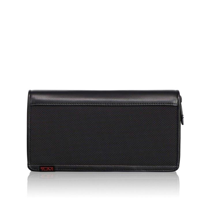 Tumi ID Lock™ Zip-Around Travel Wallet, Black