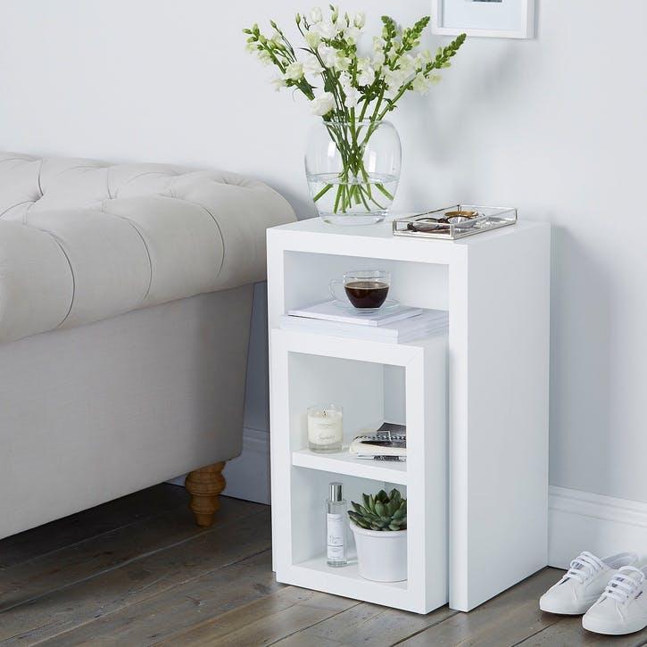 Pimlico Narrow Cube Nest Table, Set Of 2