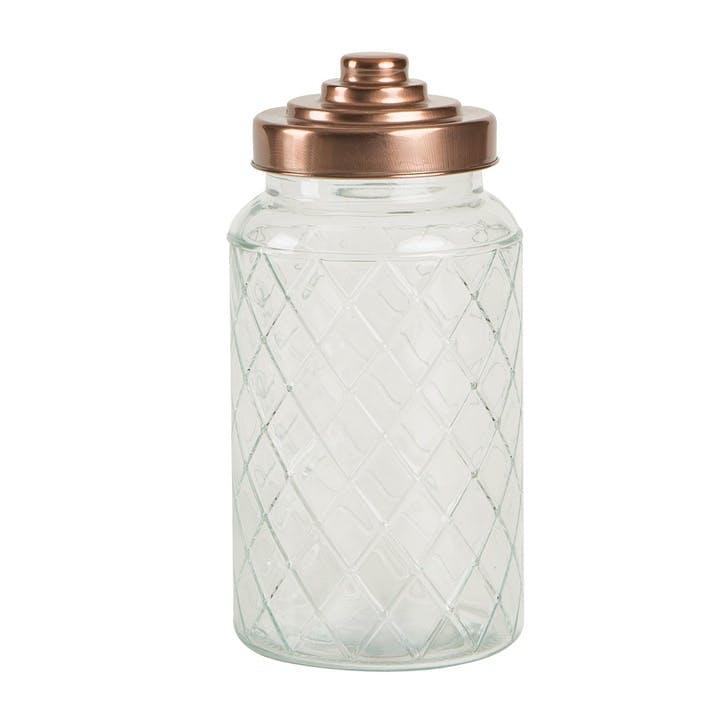 Lattice Glass Jar, Large