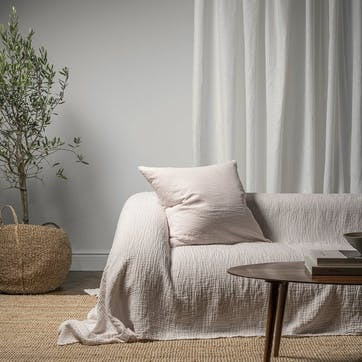 The Linen & Cotton Throw, One Size, Rose