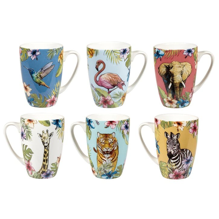 Reignforest Mugs, Set of 6