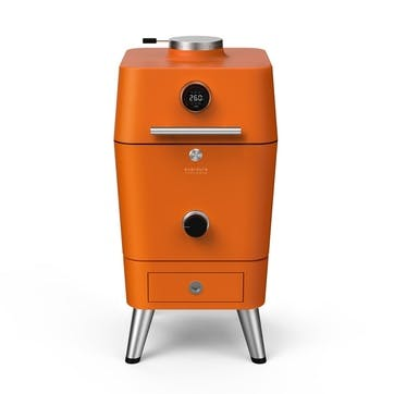4k Electric Ignition Charcoal Outdoor Oven, Orange