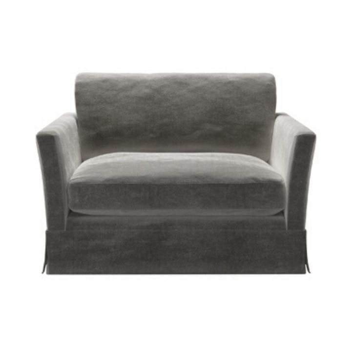 Otto, Loveseat, Squirrel Cotton Matt Velvet