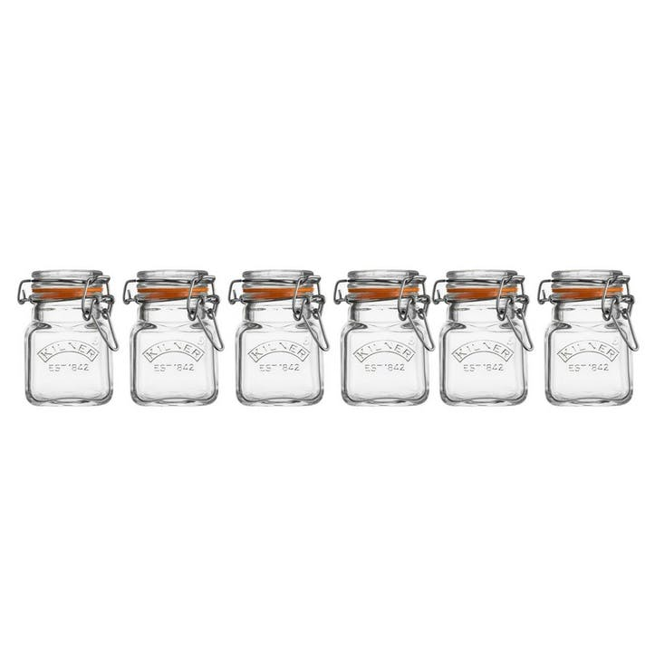Glass Clip Top Spice Jar Set