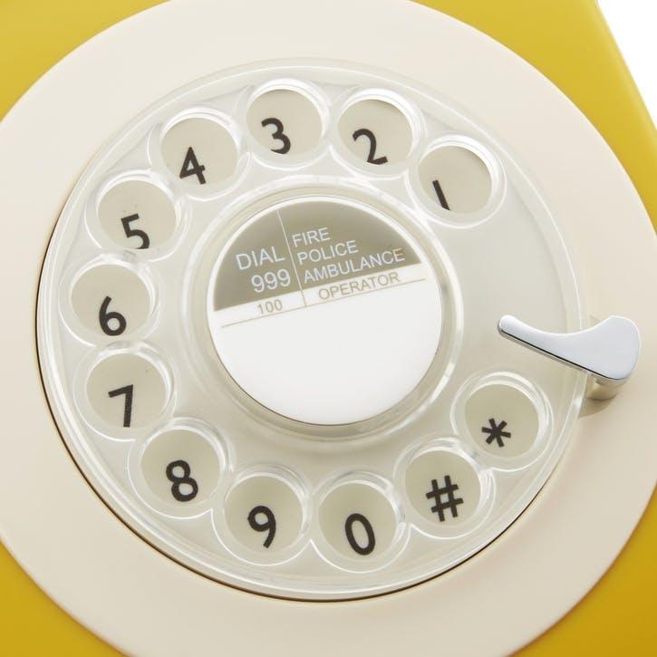 746 Rotary Telephone; Mustard
