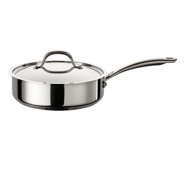 Ultimum Stainless Steel Covered Sauté Pan, 24cm