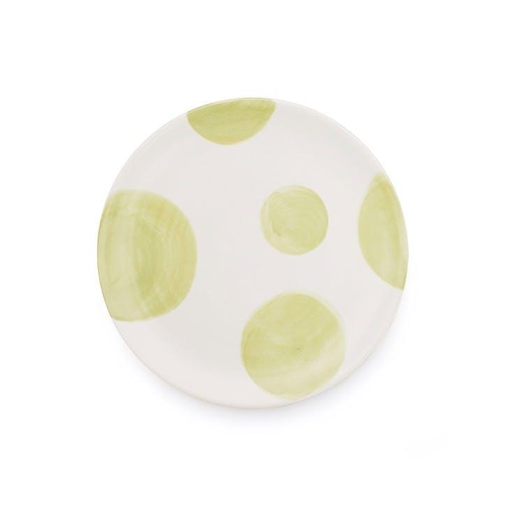 Spots Multi Side Plate, Set of 4, Green
