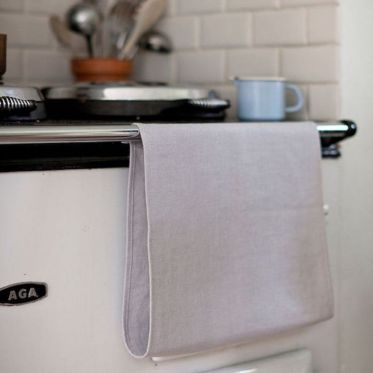 Aga  Roller Towel, Pale Grey