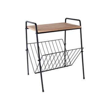 Side Table with Rack