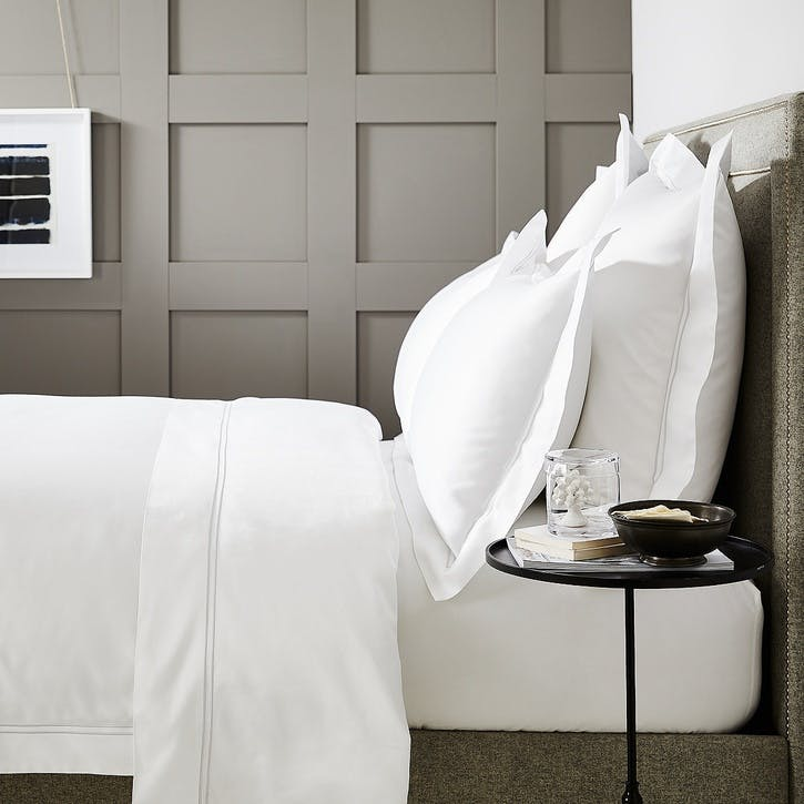 Symons Cord Duvet Cover, Double, White Silver