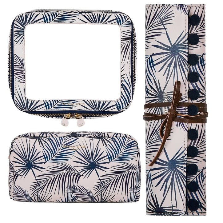 Blue Palm Travel Set