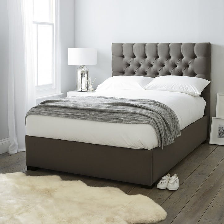 Richmond Cotton Bed, Double, Grey