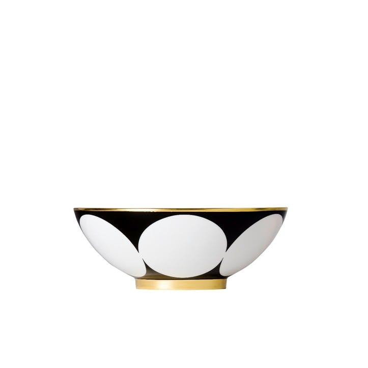 Ca' D'Oro Gold Rimmed Coupe Serving Bowl