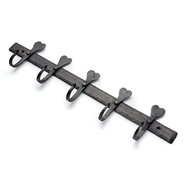 Wrought Iron Rail, 5-Hook